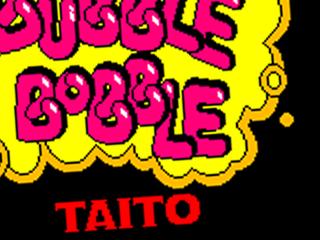 Bubble Bobble, title