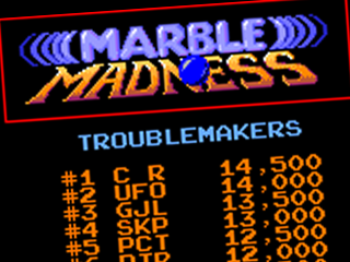 Marble Madness, title