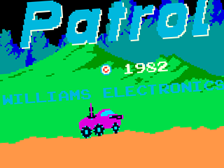 Moon Patrol, title