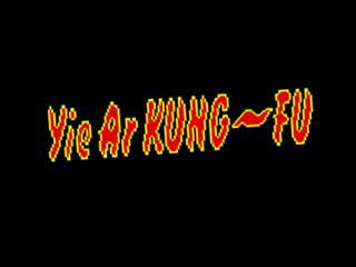 Yie Ar Kung-Fu, title